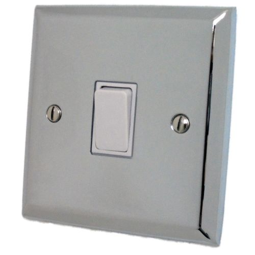 G&H SC5W Spectrum Plate Polished Chrome 1 Gang Intermediate Rocker Light Switch